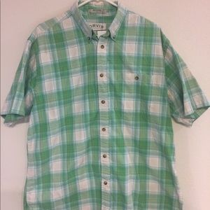 Orvis Mens Button Down Short Sleeve Multicolor